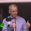 'War on whistleblowers must end!' – Assange speech at Ecuador Embassy
